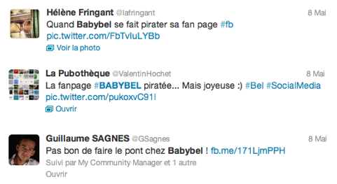 Bad-Buzz Babybel Twitter